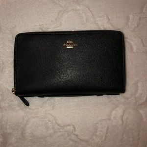 COACH Brand Large Travel Wallet